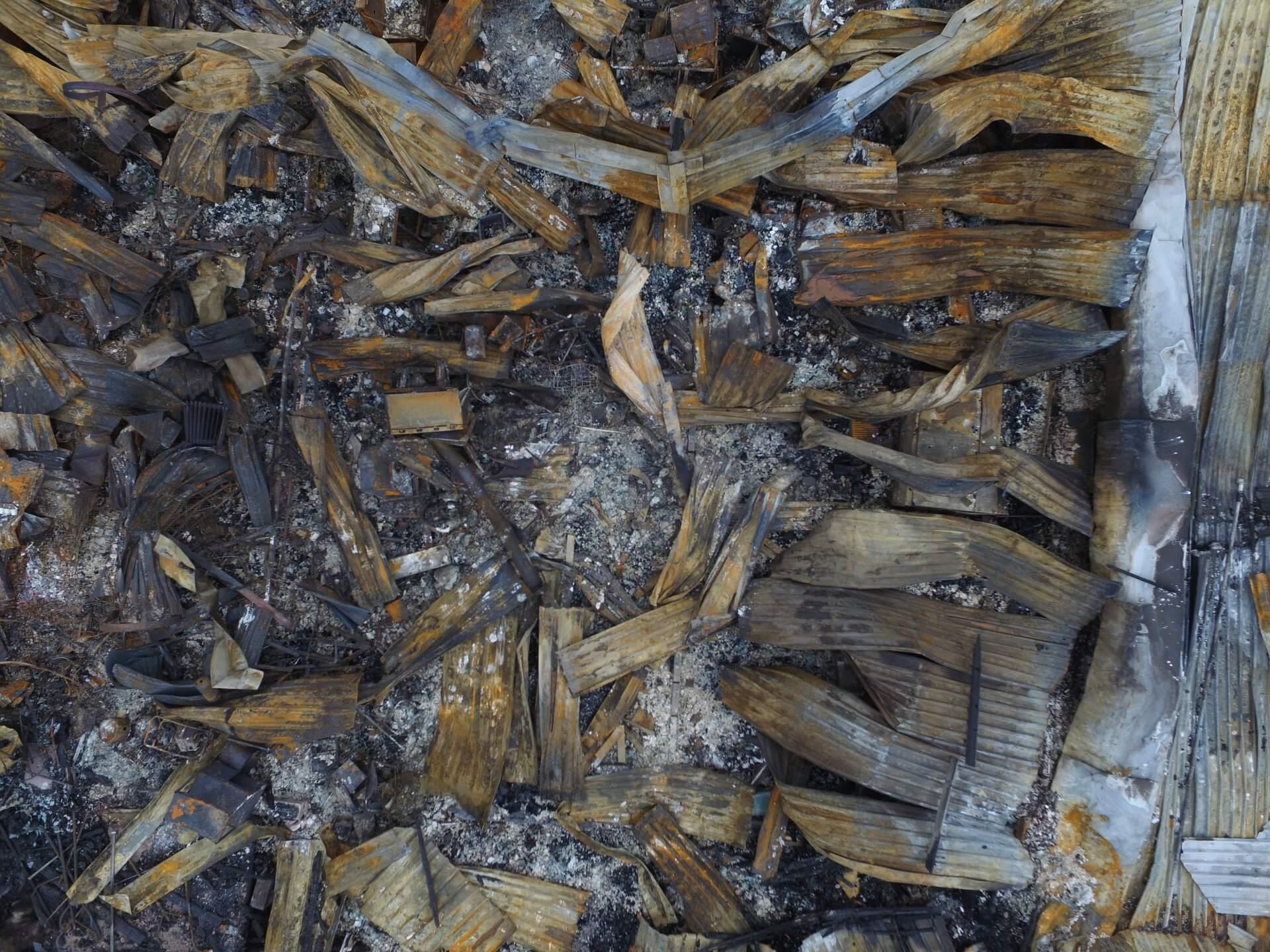 CRGP Aerial Drone Survey fire damage