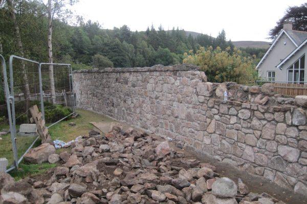 CRGP Flood Damage Boundary Wall Rebuild